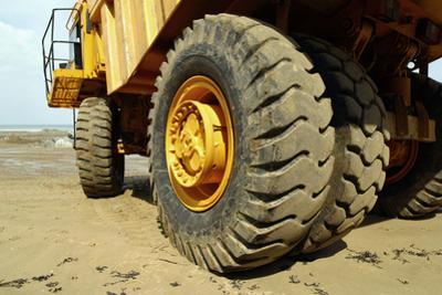 Tires on Construction Vehicle by Chris Henderson