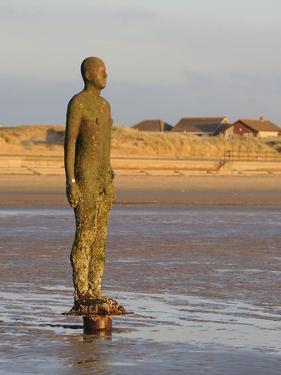 Antony Gormley Sculpture, Another Place, Crosby Beach, Merseyside, England, United Kingdom, Europe by Chris Hepburn