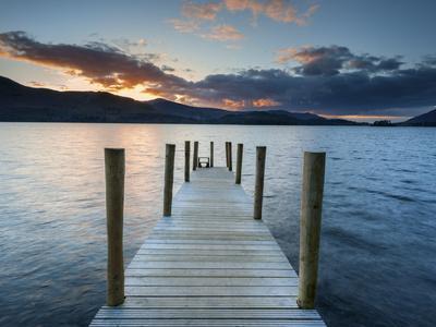 Ashness Jetty, Barrow Bay, Derwent Water, Keswick, Lake District Nat'l Park, Cumbria, England