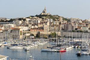 Basilique Notre-Dame De La Garde, Old Port of Marseille Harbour (Vieux Port), Marseille by Chris Hepburn