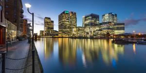Canary Wharf at Dusk, Docklands, London, England, United Kingdom, Europe by Chris Hepburn