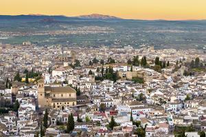 Cityscape of Granada Including the Iglesia Del Salvador, Granada, Andalucia, Spain by Chris Hepburn