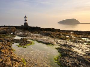 Dawn at Penmon Lighthouse, Penmon Point, Anglesey, North Wales, Wales, United Kingdom, Europe by Chris Hepburn