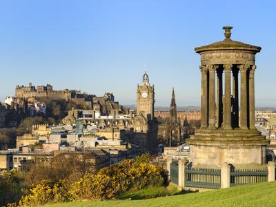Edinburgh Cityscape from Calton Hill, Edinburgh, Lothian, Scotland