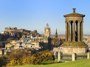 Edinburgh Cityscape from Calton Hill, Edinburgh, Lothian, Scotland by Chris Hepburn