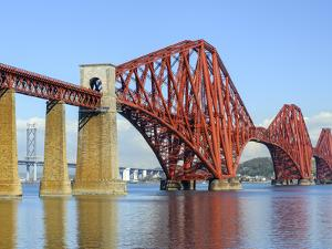 Forth Rail Bridge over the Firth of Forth, South Queensferry Near Edinburgh, Lothian, Scotland by Chris Hepburn