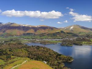 Keswick and Skiddaw Viewed from Catbells, Derwent Water, Lake District Nat'l Park, Cumbria, England by Chris Hepburn
