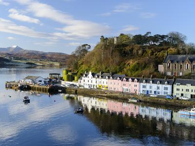 Looking Down at the Harbour of Portree, Isle of Skye, Inner Hebrides, Scotland