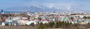 Panoramic View across the City of Reykjavik, Iceland, Polar Regions by Chris Hepburn