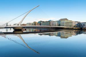 Samuel Beckett Bridge over the River Liffey, Dublin, County Dublin, Republic of Ireland, Europe by Chris Hepburn