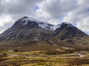 Single Small Cottage and Buachaille Etive Mor, Rannoch Moor, Glencoe, Highland Region, Scotland by Chris Hepburn