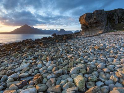 Sunset at Elgol Beach on Loch Scavaig, Cuillin Mountains, Isle of Skye, Scotland
