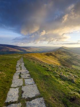 The Great Ridge Pathway, Mam Tor, Hope Valley, Castleton, Peak District National Park, Derbyshire, by Chris Hepburn
