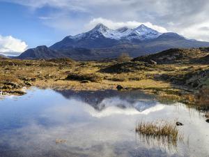 View of the Black Cuillin Mountain Sgurr Nan Gillean, Glen Sligachan, Isle of Skye, Scotland, UK by Chris Hepburn