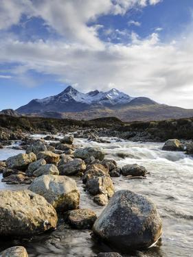 View of the Black Cuillin Mountain Sgurr Nan Gillean, Glen Sligachan, Isle of Skye, Scotland by Chris Hepburn
