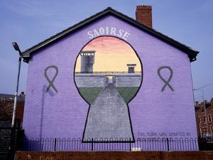 A Republican Political Mural in Belfast, Northern Ireland by Chris Hill
