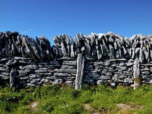 A Traditional Irish Dry Stone Wall, County Clare by Chris Hill