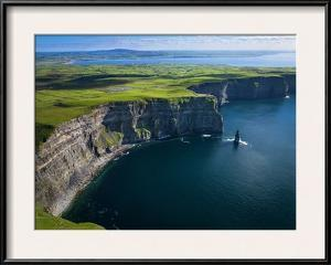 Aerial View of the Cliffs of Moher on the West Coast of Ireland by Chris Hill