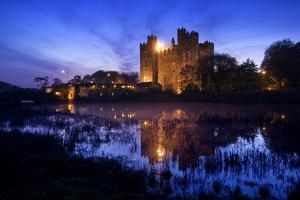 Bunratty Castle by the River Shannon at Dusk by Chris Hill