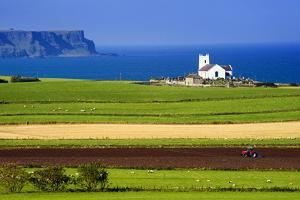 Church at Ballintoy on the North Coast of Northern Ireland by Chris Hill
