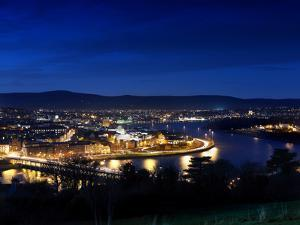Derry City at Dusk in Northern Ireland by Chris Hill