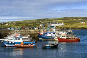 Fishing Boats at Portmagee in Kerry, Ireland by Chris Hill