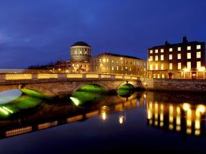 Four Courts on the River Liffey in Dublin, Ireland by Chris Hill
