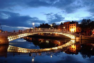 Ha' Penny Bridge over the River Liffey in Dublin, Ireland