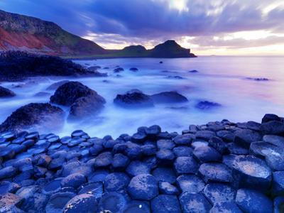 Hexagonal Stone Formations at Giant's Causeway, Ireland by Chris Hill