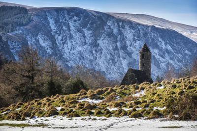 Saint Kevin's Chapel in a winter landscape. by Chris Hill