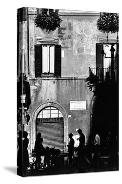 Street Scene in Rome on the Piazza Navona by Chris Hill