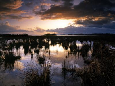 Sunset at Lough Beg in Northern Ireland by Chris Hill