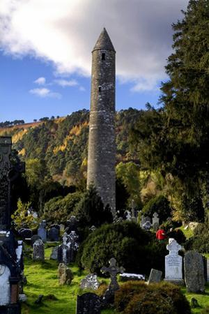 The Round Tower at Glendalough, County Wicklow by Chris Hill