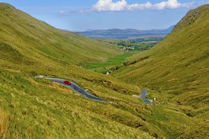 Winding Road Through Donegal in Ireland by Chris Hill