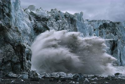 Hubbard Glacier explodes in July of 1986, creating a dam. by Chris Johns