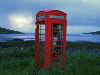 Phone Box or Booth on the Edge of Nowhere, Isle of Rum, Scotland