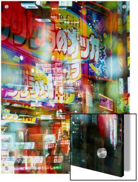Neon Lights and Reflections in Shinjuku, Tokyo, Japan by Chris Mellor