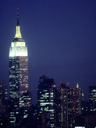 Empire State Building at Night, NYC, NY