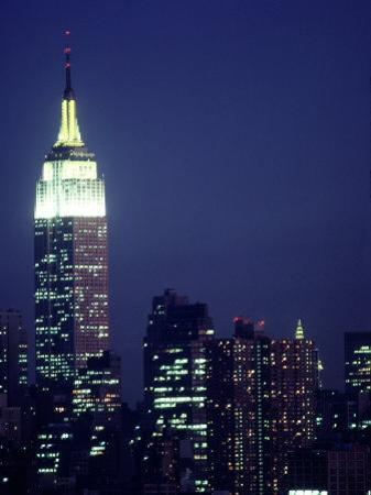 Empire State Building at Night, NYC, NY