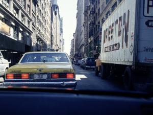 Yellow Taxi in Traffic, NYC, NY by Chris Minerva