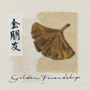 Bronze Leaf I Golden Friendship by Chris Paschke