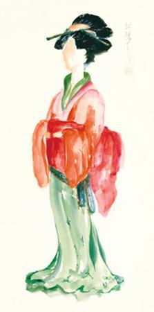 Geisha I Bright Crop by Chris Paschke