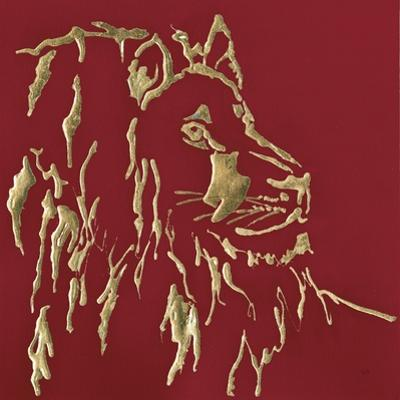 Gilded Lion on Red by Chris Paschke