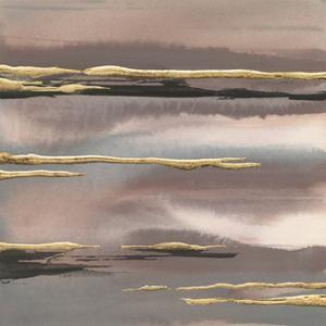 Gilded Morning Fog I Gold by Chris Paschke