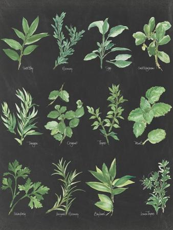 Herb Chart on Black