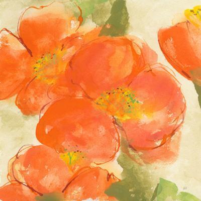 Tangerine Poppies I by Chris Paschke