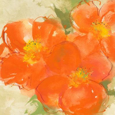Tangerine Poppies II by Chris Paschke
