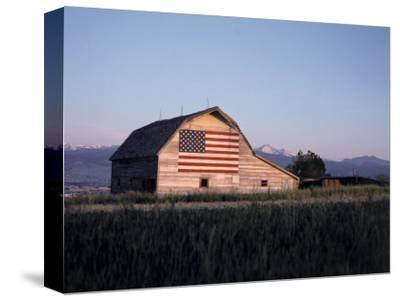Barn with US Flag, CO