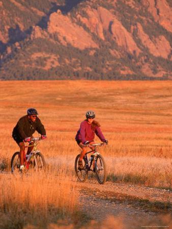 Couple Mountain Biking, CO