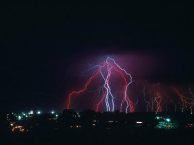Lightning Over Boulder, CO